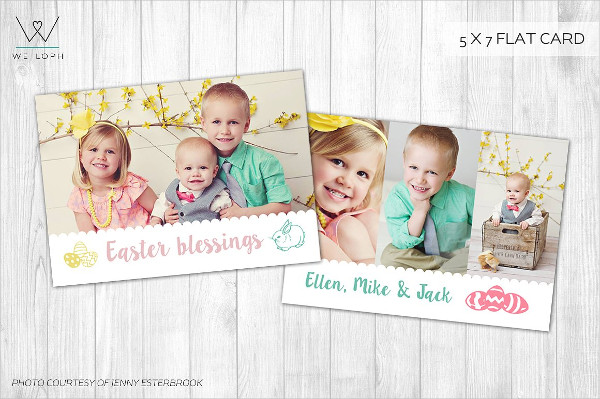 Easter Card Template Greetings