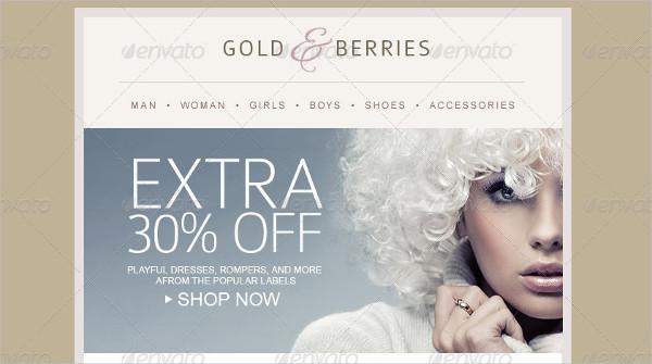 Fashion E-Commerce Newsletter Template