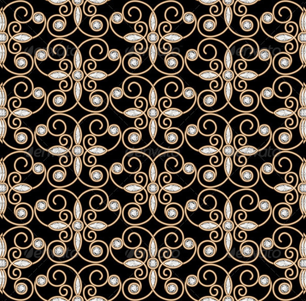 Elegant Gold Diamond Pattern