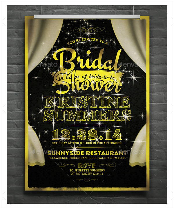 Fancy Bridal Shower Invitation Template
