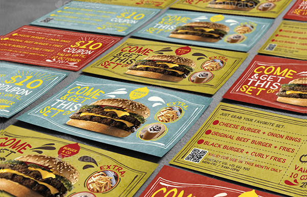 Fun Food Coupon Card Template