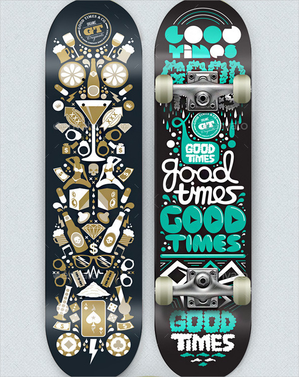 Grapulo's Skateboard Mock-Up