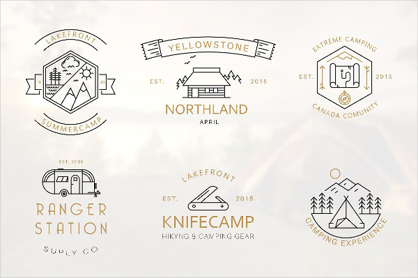 Iconic Camping Logo Badge Collection