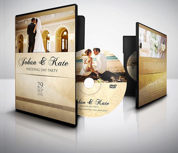 Perfect Wedding DVD Cover and DVD Label Templates