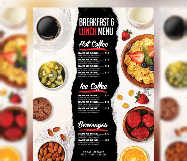 Lunch & Breakfast Menu Templates