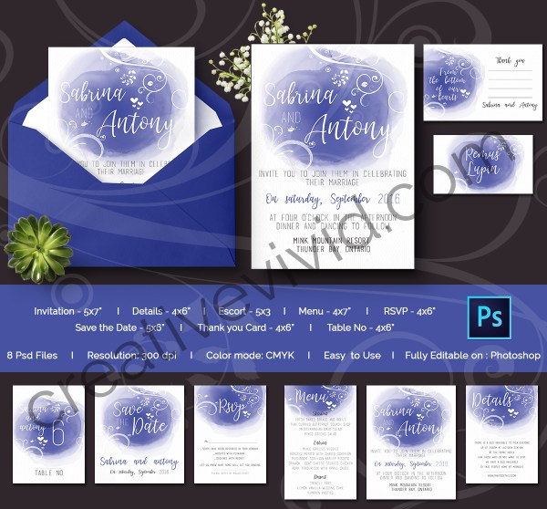 Affordable Wedding Invitations Pack