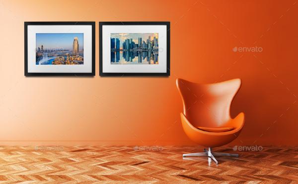 Modern Room Frame Mockups
