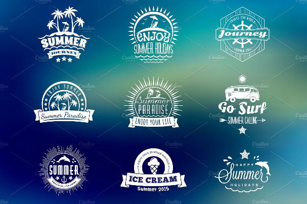 Cool Summer Holiday Badges