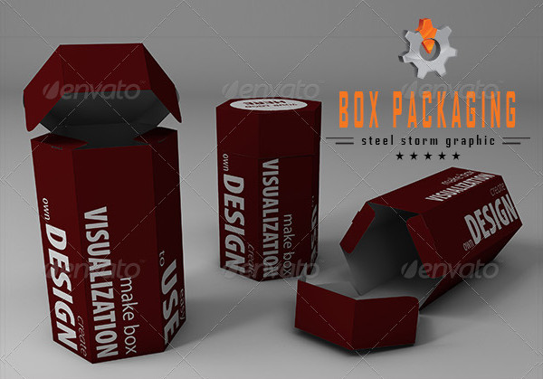 Perfect 3D Tube Box Mockup