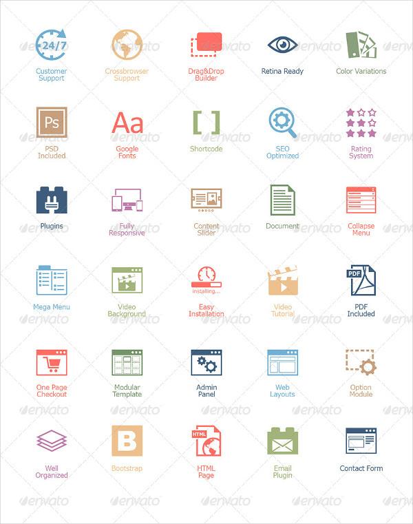 Popular Web Design Icon Pack
