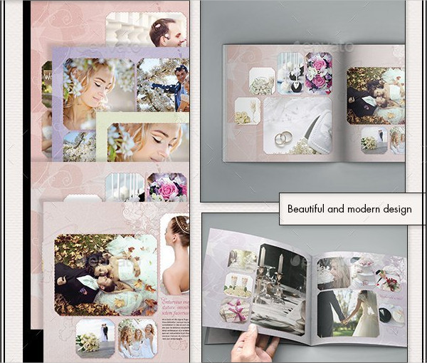 Printable Photobook Wedding Album Templates