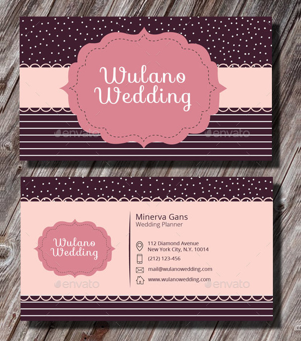 Professional Wedding Planner Business Card