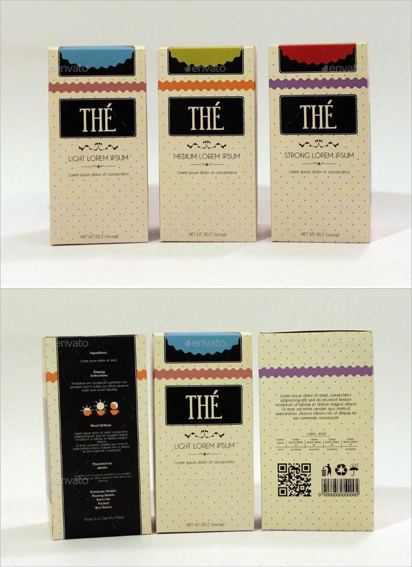 A Retro Inspired Tea Box Design