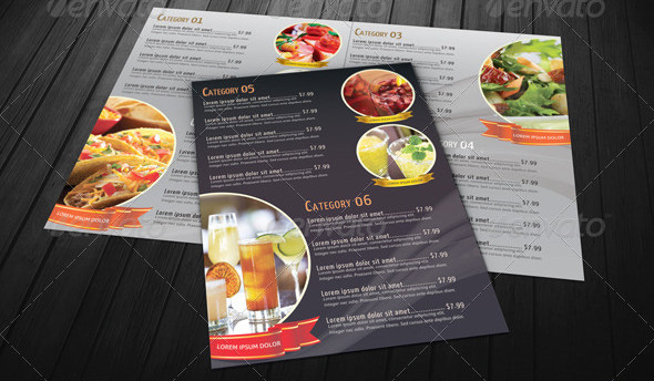 Royal Menu Card PSD Design