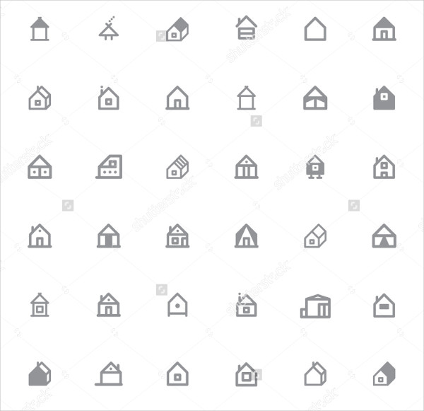 Set of Unique Home Icons