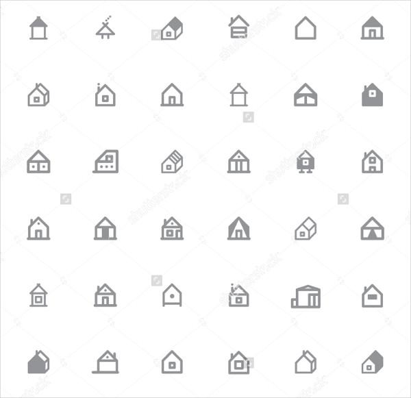 Set of Unique Home Icons