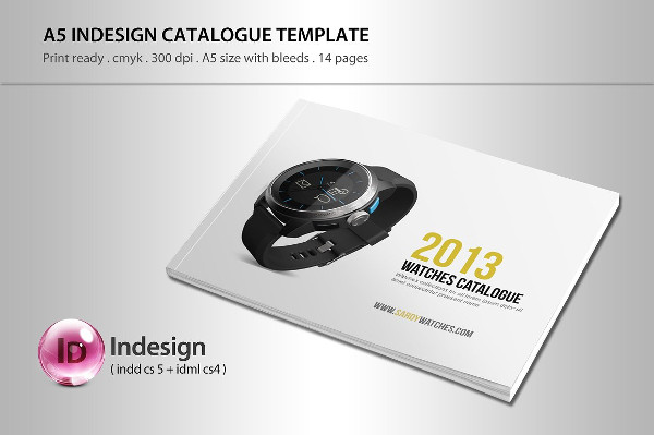 Simple Watches Catalog Template