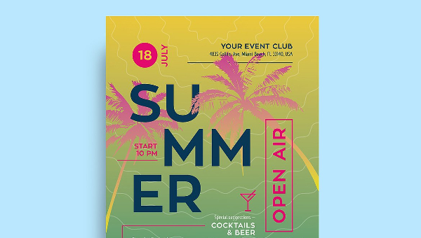 Summer Poster Templates