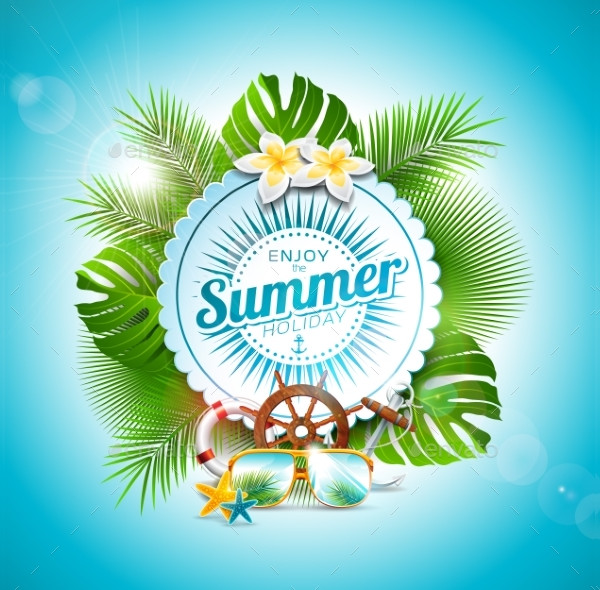 Vector Enjoy the Summer Holiday Typographic