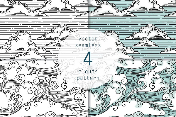 Vector Seamless Clouds Pattern