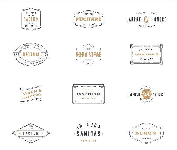 Vintage Label & Logo Template Designs
