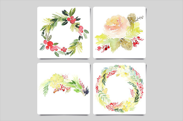 Watercolor Christmas Greeting Cards Download