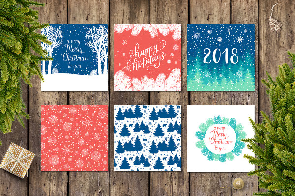 12 Holiday Card Templates & Patterns