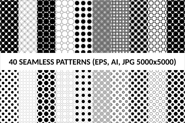 40 Seamless Circle Patterns