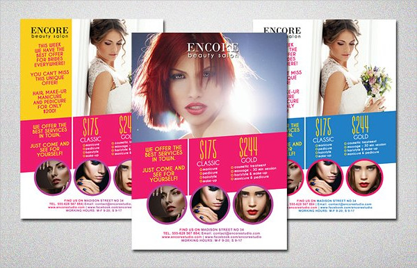Beauty Salon Colorful Flyer Template