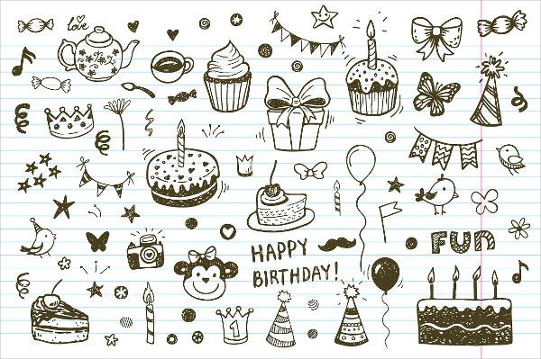 Birthday Doodle Patterns