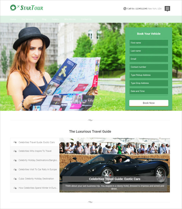 Celebrities Travel Agencies WP Theme $79
