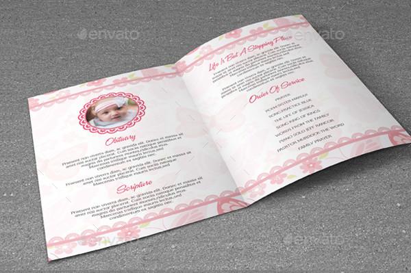 Child Funeral Program Brochure