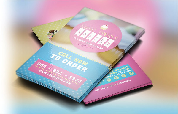 Cutie Treats Bakery Business Card Template