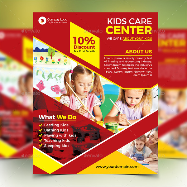 Day Care Services Flyer Templates