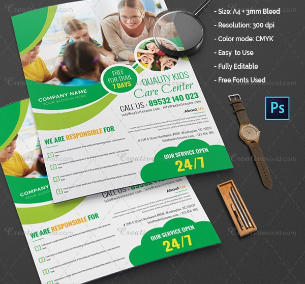 Best Day Care Flyer Template