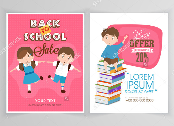 School With Discount Offer Flyer