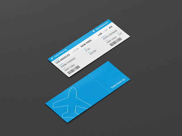 Event Ticket Design Mockup