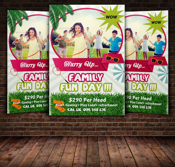 Family Fun Day Flyer Templates