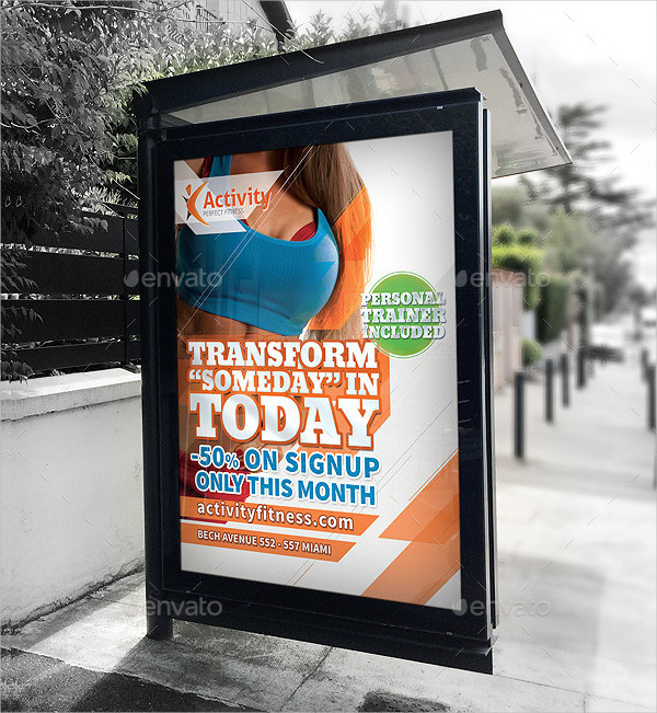 Fitness Advertising Posters Template