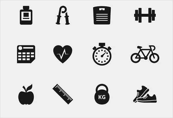 Gym Simple Icons