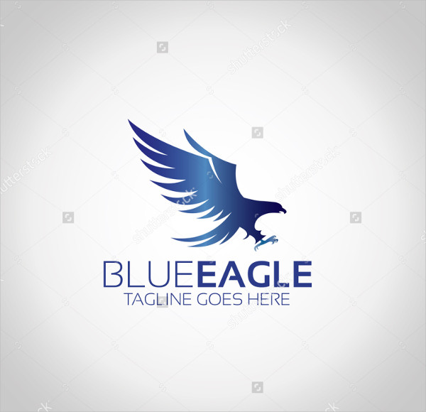 Blue Eagle Vector Logo