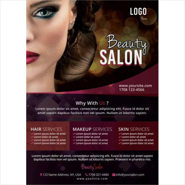 Beauty Salon Flyer PSD Free Download