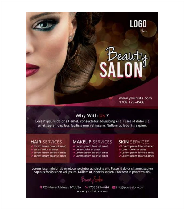 Free PSD Flyer for Salon