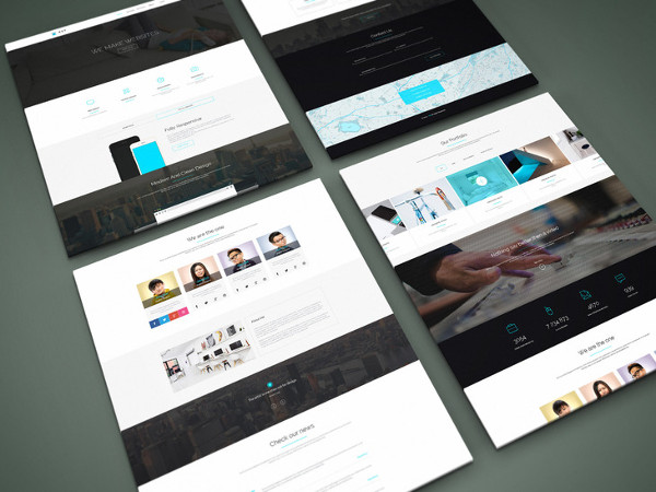 Free Perspective Website PSD Mock-Up