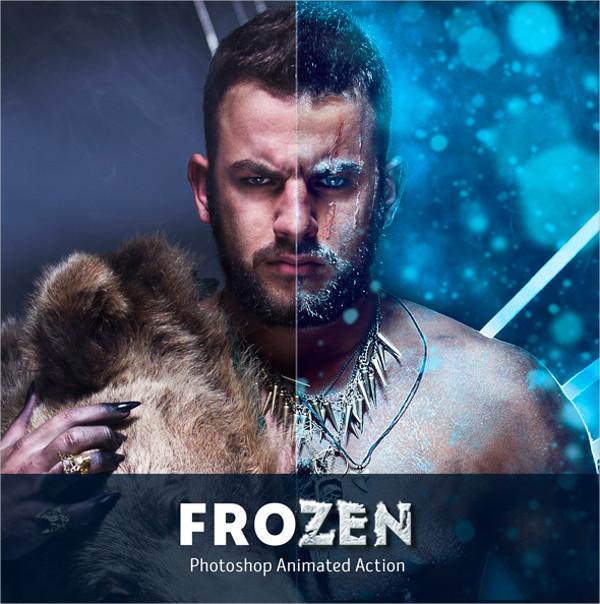 Frozen Animated Photoshop Action