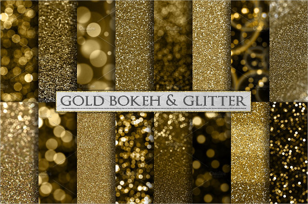 Gold Bokeh And Glitter Background Pack