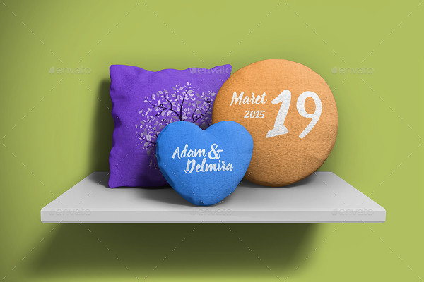Modern Mock-up of Pillow