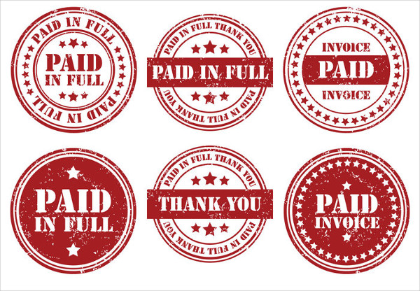 Paid Rubber Stamp Templates Set Free Download