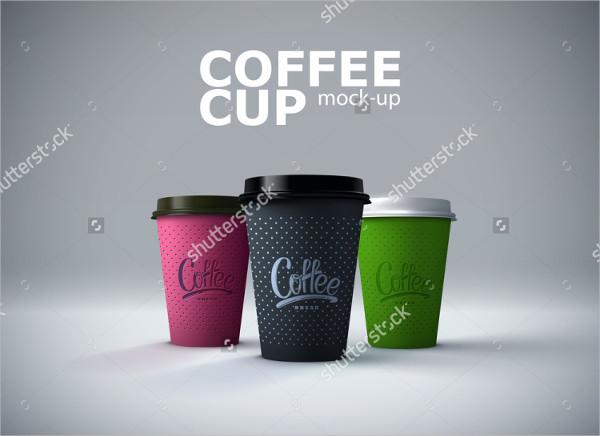 Paper Cups Mockup Vector