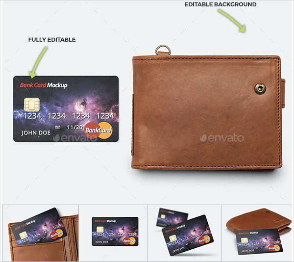 Perfect Mockup for Bank Card